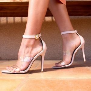 Nude Clear Straps Heels